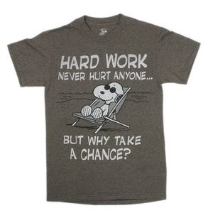 Peanuts Snoopy Hard Work Never Hurt Anyone T-Shirt